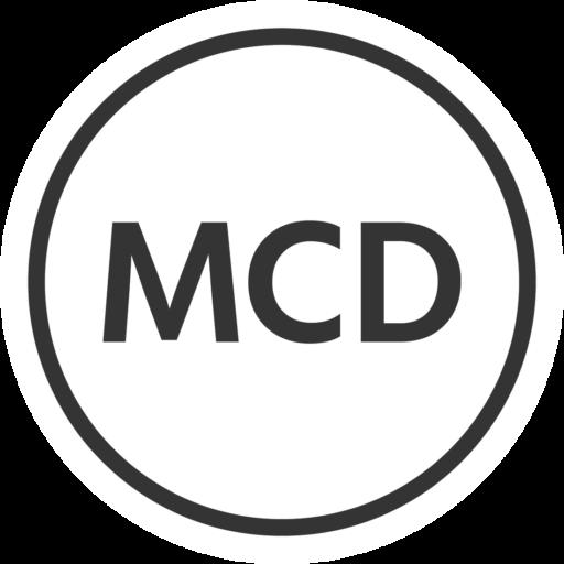 MCD Round White Logo
